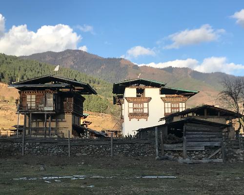 Bhutan Phobjikha Valley village