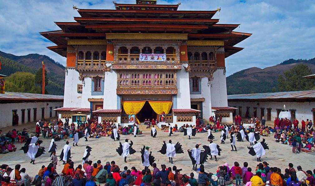 Black necked crane festival Bhutan