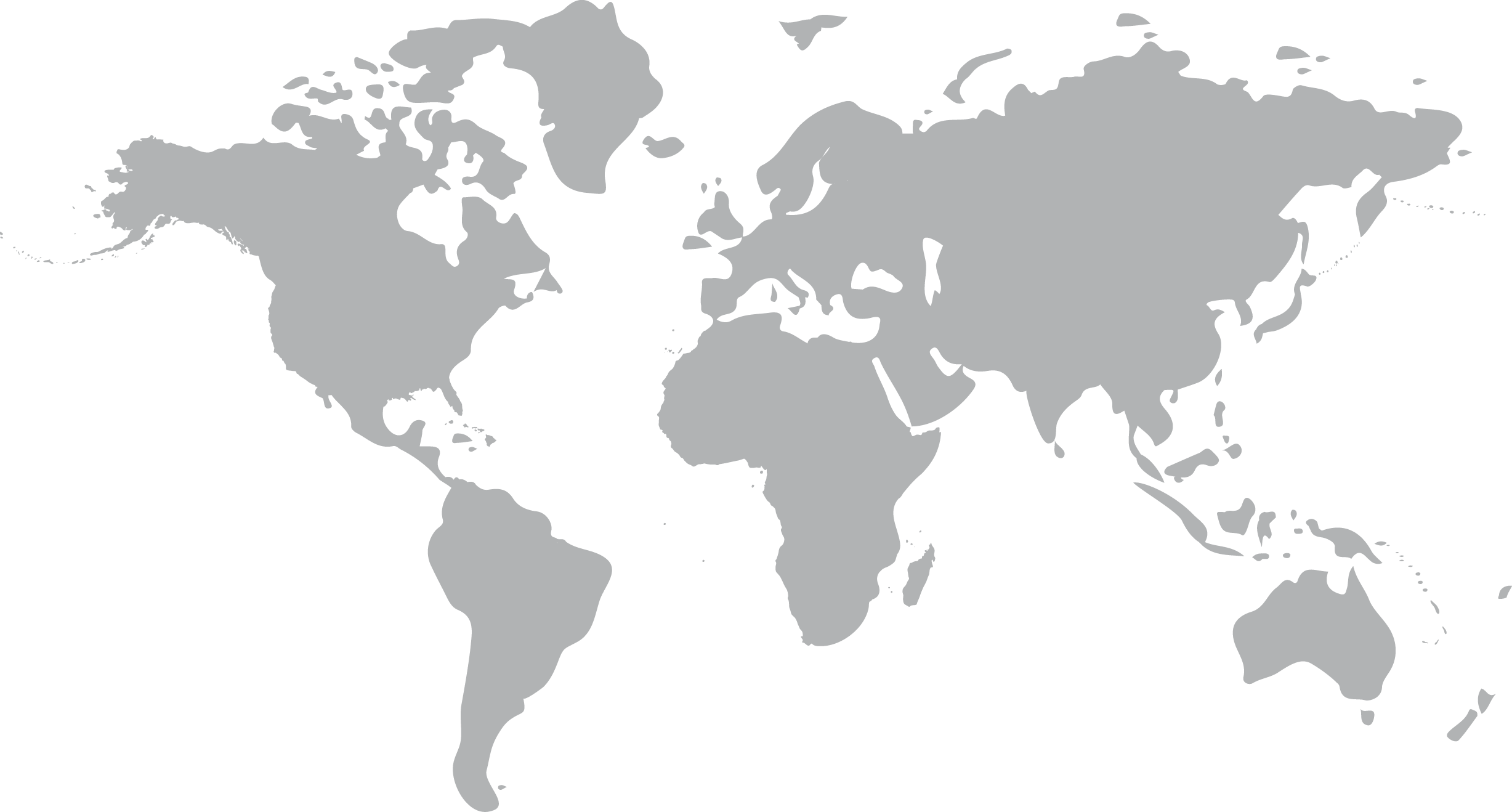 World map showing sales reps